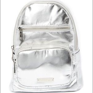 Madden Girl Silver Sling Bag NWT